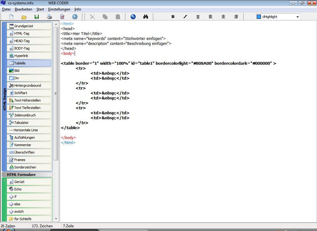 Screenshot für WebBuilder